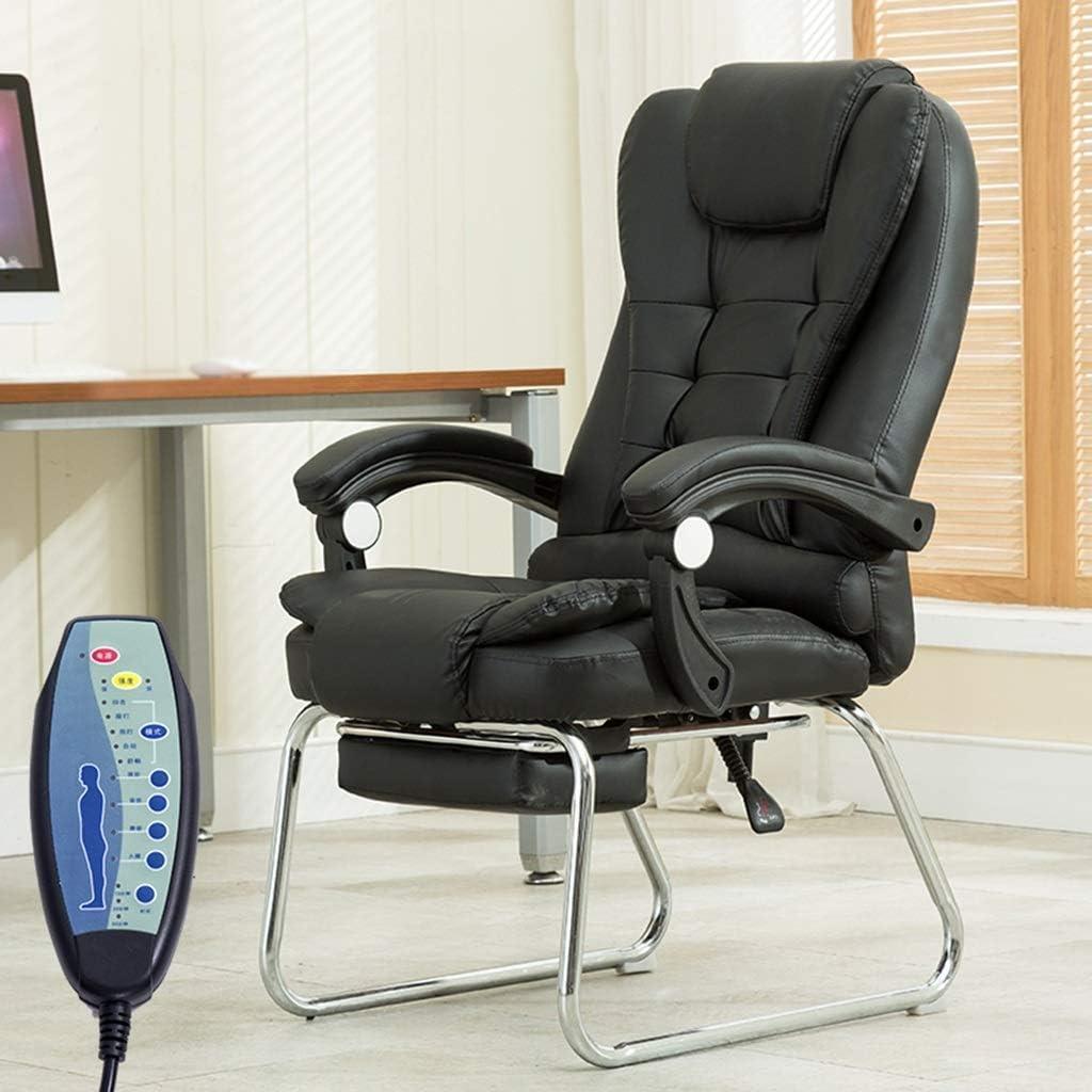 Chaise FHW de Bureau Taille Dossier arrière Elderly Maison Confort est Pas Facile de Se Laver Les Mains de Bureau (Color : Black) Black