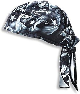 Bandana Under Cap Protector | Diving Doo Rags | Head Wrap Skull Caps Biker Head Cover Wrap for Men & Women | (Calavera)
