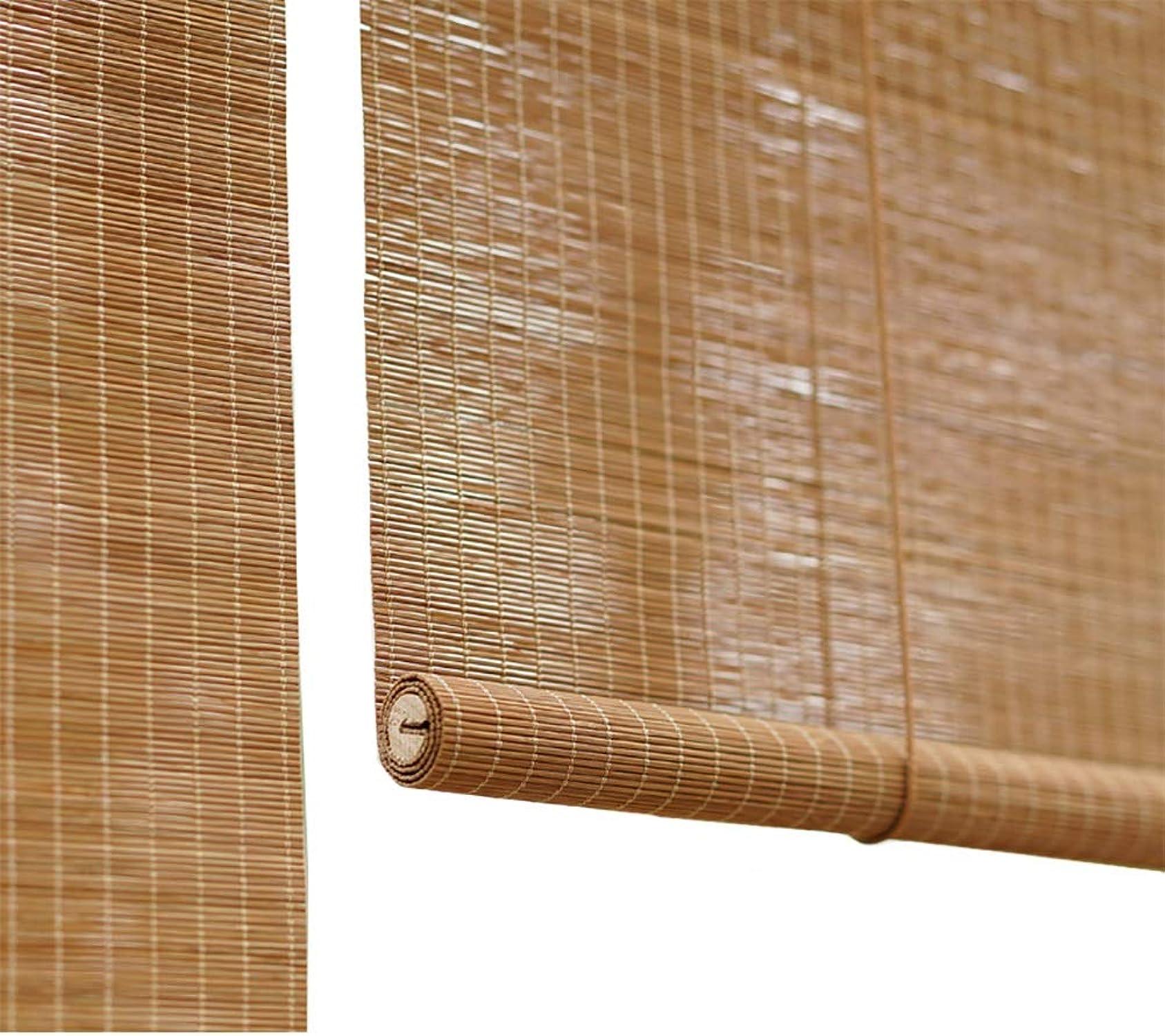 presentando toda la última moda de la calle Persianas Persianas Persianas Privacidad, Enrollables De Bambú para Porche Balcón Puertas Salón De Té, 60% Filtro De Luz (Tamaño   80×160cm)  forma única
