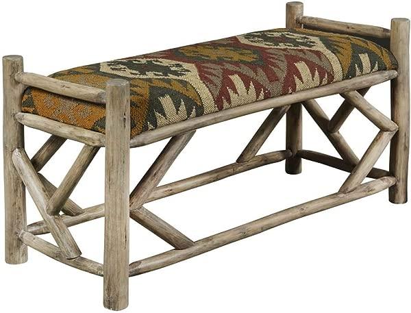 Pulaski Wood Bench In Southwest Ganado Pattern