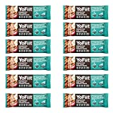 Apple-Cinnamon High Fiber Breakfast Bars. Low Sugar, Gluten Free, Nut Free, Soy Free, Dairy Free (Vegan), Non-GMO. with Probiotics & Prebiotics for Healthy Digestion by YoFiit (12 Pack)