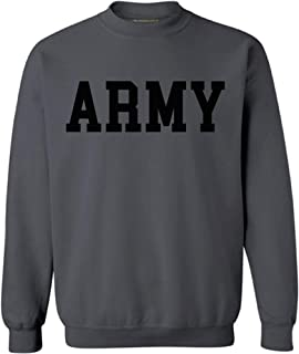 Awkwardstyles Army Sweater Black Military Physical Training Sweatshirt