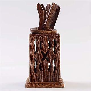 gannbarou 茶道具セット 茶器 六君子 茶道具 茶則 茶匙 茶針 茶入 茶挟 茶筒 6点セット (ウェンジ-透かし彫り)
