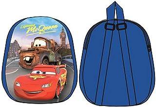 Mini mochila escolar y tiempo libre para niños con personajes Cars de 31 cm, licencia Disney.