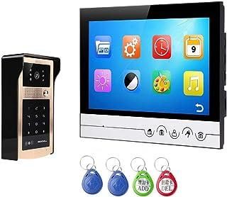 Video Doorbell System, Wired Intercom Doorbell Equipment, 9 Inch Night Vision Bell, Photo Video Doorbell,B