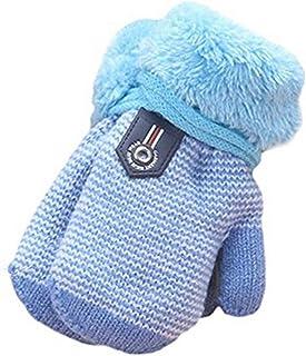Asalinao Fingerhandschuhe Kleinkind Baby Warme Handschuhe F/ünf Fingerhandschuhe Dickes Patchwork Unisex M/ädchen Jungen Fahrradhandschuhe Winterhandschuhe 2-6 Jahre alt