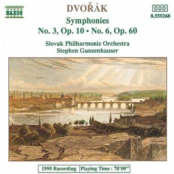 DVORAK: Symphonies Nos. 3 and 6