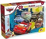 Liscianigiochi- Puzzle 50x70 cm Doble Cara con Reverso para Colorear Maxi Floor 24 Piezas Disney Cars Puzle para niños, Multicolor (86634)