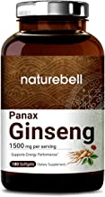Korean Red Ginseng (Panax Ginseng Root), 1500mg, 180 Liquid Softgels, Most Active Ginsenosides Content, Strongly Support Energy Performance, Immune System and Libido, No GMOs and Made in USA