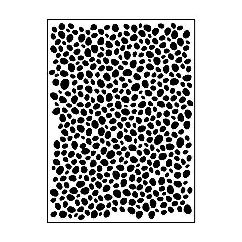 Carabelle Studio Cartella per Goffratura Mascherina Stencil Sasso Ovale, Plastic, Transparent, 10.8x14.6x0.11 cm