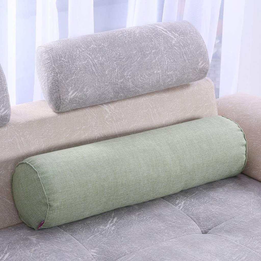 4 Farben Yoga-Kissen waschbarer Leinen-Kissenbezug Nackenst/ützkissen Baumwoll-Stuhl-Sitzkissen chiwanji Lendenwirbelrolle tolle Massage-Nackenrolle
