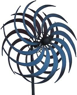 TG,LLC Double Pinwheel Kinetic Lawn Garden Wind Spinner Metal Outdoor Yard Decor