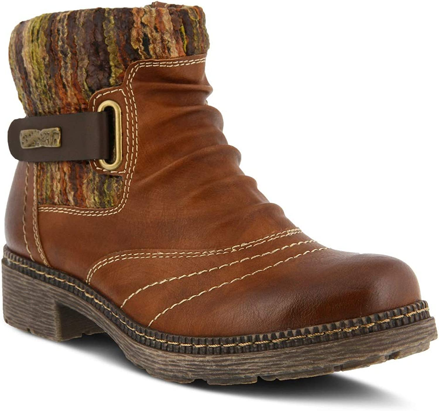 Spring Step Women's Citrine Bootie   color Brown   Leather Bootie