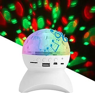 USDWRM Disco Lights USB Disco Ball Lights Bluetooth Music Speaker LED Party Lights USB RGB DJ Sound Activated Rotating Sta...