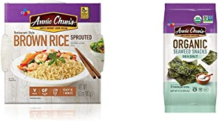 Annie Chun's Cooked Sprouted Brown Rice & Seaweed Snack, Sea Salt Flavored (Bundle)