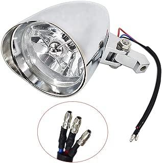 Motorcycle Headlights Aluminum Visor Bullet Chrome Head Light Lamp for Harley Sportster XL Dyna Softail Bobber FXR FXST Chopper Bobber Custom