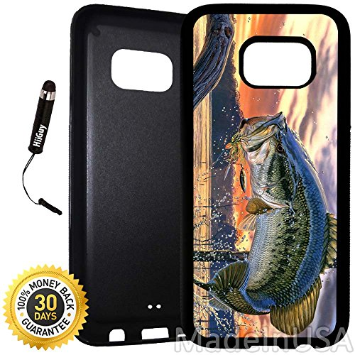 Custom Galaxy S7 Case (Pro Fishing Bass Mouth) Edge-to-Edge Rubber Black Cover Ultra Slim | Lightweight | Includes Stylus Pen by Innosub