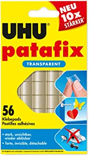 Uhu Patafix 48815 Double-Sided Adhesive Pads Transparent [Pack of 56]