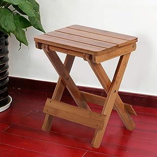 Jeffergarden Taburete Plegable portátil Madera Maciza al Aire Libre Hogar Cuadrado Taburete de bambú Muebles Plegables Silla de Pesca Baño Sauna Asiento Inicio