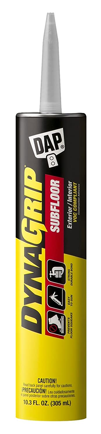 DAP 27514 Subfloor Synthetic Latex Construction Adhesive, 10.3 Oz, Tube, Paste, Slight Alcoholic, Light Tan