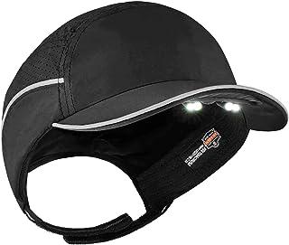 Lightweight Bump Cap with LED Brim Lighting, Baseball Hat Style, Ergodyne Skullerz 8965