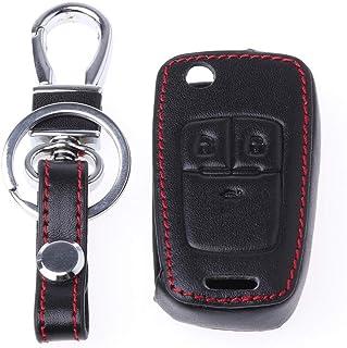 COLUDOR - Funda de piel para llave de coche para Chevrolet Cruze TRAX Aveo Lova Sail EPICA Captiva Malibu Volt/Opel