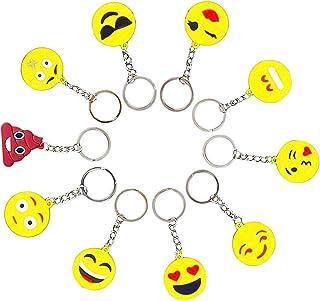 Funmo Emoji Portachiavi, Emoticon Decorazioni, Gadget Regalo, Portachiavi ad Anello e Catena, Dell'anello Chiave, Complean...