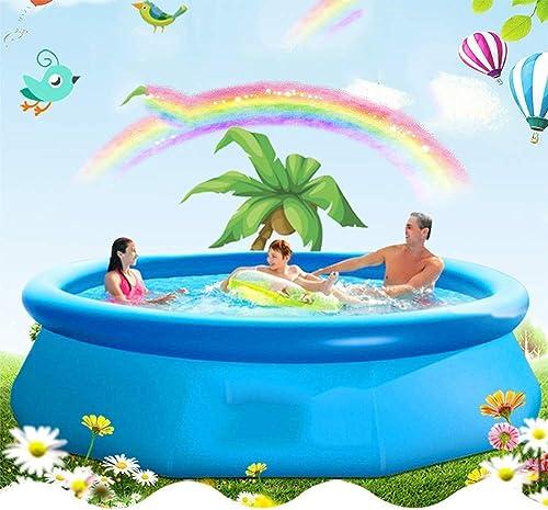 TIAMO Piscine Familiale Grande Piscine De Jeu Gonflable en Plein Air Baignoire Gonflable Pliante Piscine Intégrée Jardin D'été Piscine Enfants Adulte (Taille   XXL)