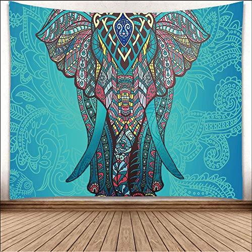 RTEAQ Tapisserie elefant tapisserie Aubusson färg tryckt dekor mandala religiös boho väggbonad...