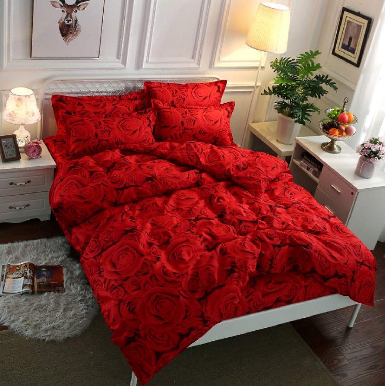 ventas calientes BEDSETAAA Juego de Ropa de Cama Creative Design rojo rojo rojo Dovet Portada Funda de Almohada Cuatro Juegos, 200X230Cm  en venta en línea