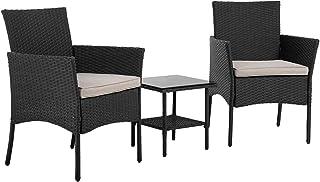 Patio Furniture Sets 3 Pieces Outdoor Wicker Bistro Set...