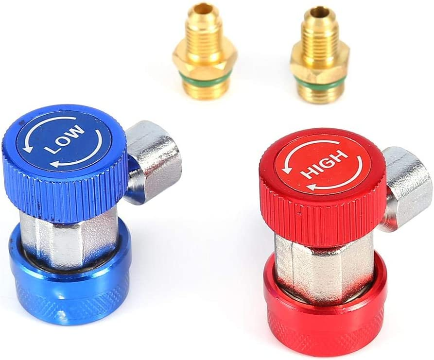 2x Air Conditioning Quick Coupler AC A Ranking TOP4 Connector R134A Adapters Beauty products