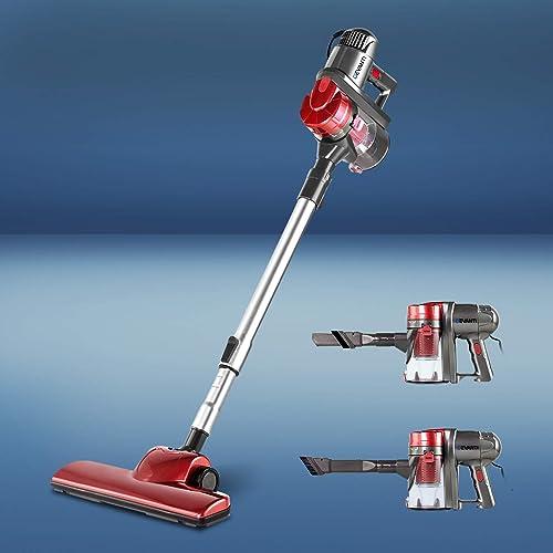 Devanti 450W 2 in 1 Electric Corded Stick Vacuum Cleaner Ultra Lightweight Portable Handheld Handstick Vac Bagless Up...