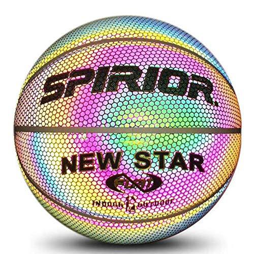 Ardorman Baloncesto Luminoso - Baloncesto para Uso en Interiores y Exteriores - Juego de Baloncesto Nocturno niños