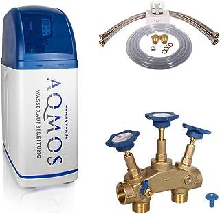 Aqmos R2D2-32 Wateronthardingsinstallatie met aansluitset 1 inch en montageblok 1 inch | waterontharder voor huishoudens t...