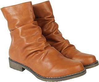 Flat n Heels Womens Tan Boots FnH 7188-D-TAN