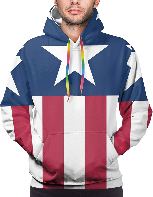Hoodie For Mens Womens Teens American Flag Hoodies Outdoor Sports Sweater