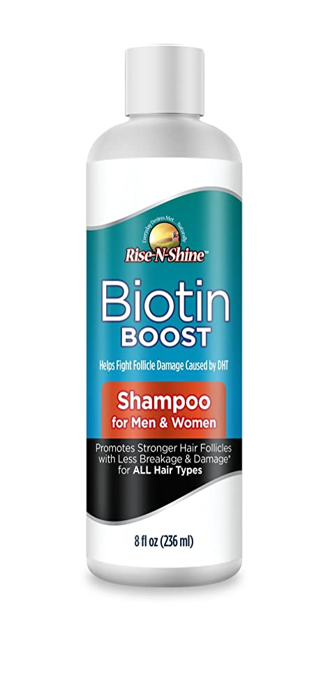 Biotin Boost Daily Shampoo - Hair Growth Formula for Fuller, Thicker Hair Growth. Top Rated for Hair loss, Thinning Hair - Blocks DHT - Best for Men & Women