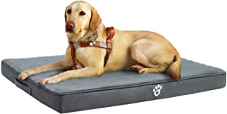 Utotol Orthopedic Dog Bed for Small | Medium | Large | Jumbo Dogs, Memory Foam Pet Bed Mattress with Removable Washable Cover, 2-Layer Pet Mat with Waterproof Lining Dog Bed