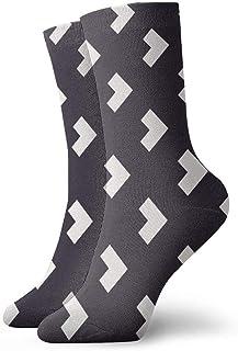 tyui7, Patrón de flecha Pisos de vinilo Calcetines de compresión antideslizantes grises Cosy Athletic 30cm Crew Calcetines para hombres, mujeres, niños