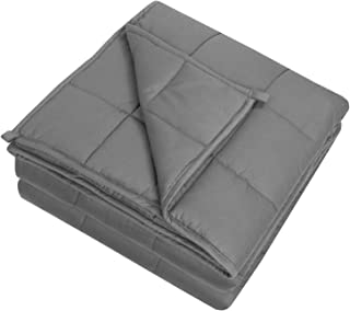 """Sweet Home Collection and Comfortable Bedding with Premium Grade Glass Beads, Weighted Blanket, Dark Gray, 48"""" x 72"""" - 12 ..."""