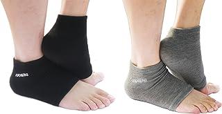 Moisturizing Heel Socks Open Toe Socks for Dry Hard Cracked Skin Moisturizing Day Night Care Skin, Spa Gel Socks Humectant...