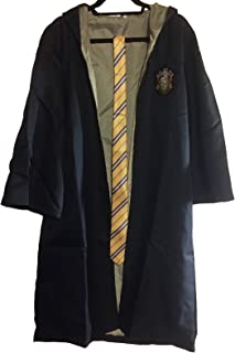 Hufflepuff School Crest Adult Size Robe with Hood and Tie