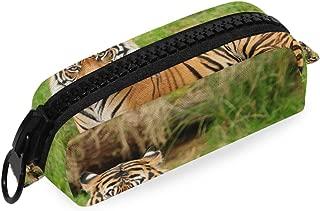 Portrait of Royal Bengal Tiger Pencil Case Big Zipper School Bag Pen Office Artist Pouch