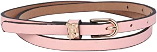 Damara Women's Skinny Pu Waist Belt Bowknot Pin Buckle Waistband One Size Pink