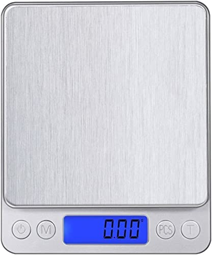 Leiking Digital Kitchen Scale, 500g 0.001oz/ 0.01g Pocket Cooking Scale, Mini Food Scale, Pro Electronic Jewelry Scal...
