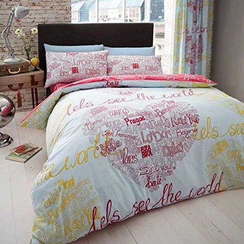 Just Contempo Bettbezug Set, Pink Love, Super King