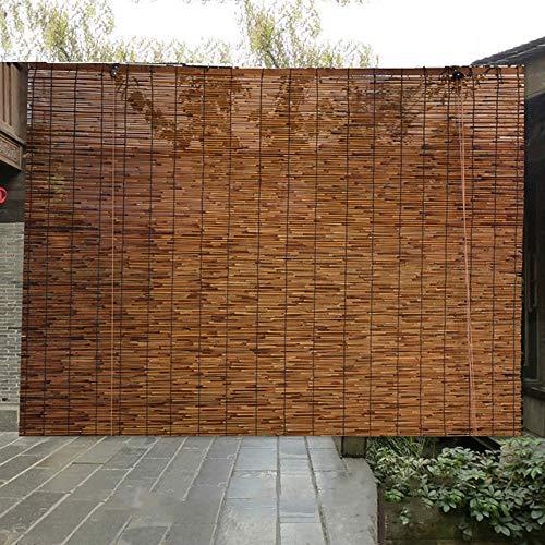 XZRR Store en Bambou, Store Exterieur Enrouleur,Store Venitien Bois,100% Roseau Sauvage, pour Les Magasins Décoration Murale Intérieure/extérieure Rétro,Store Bambou Interieur 2X3m