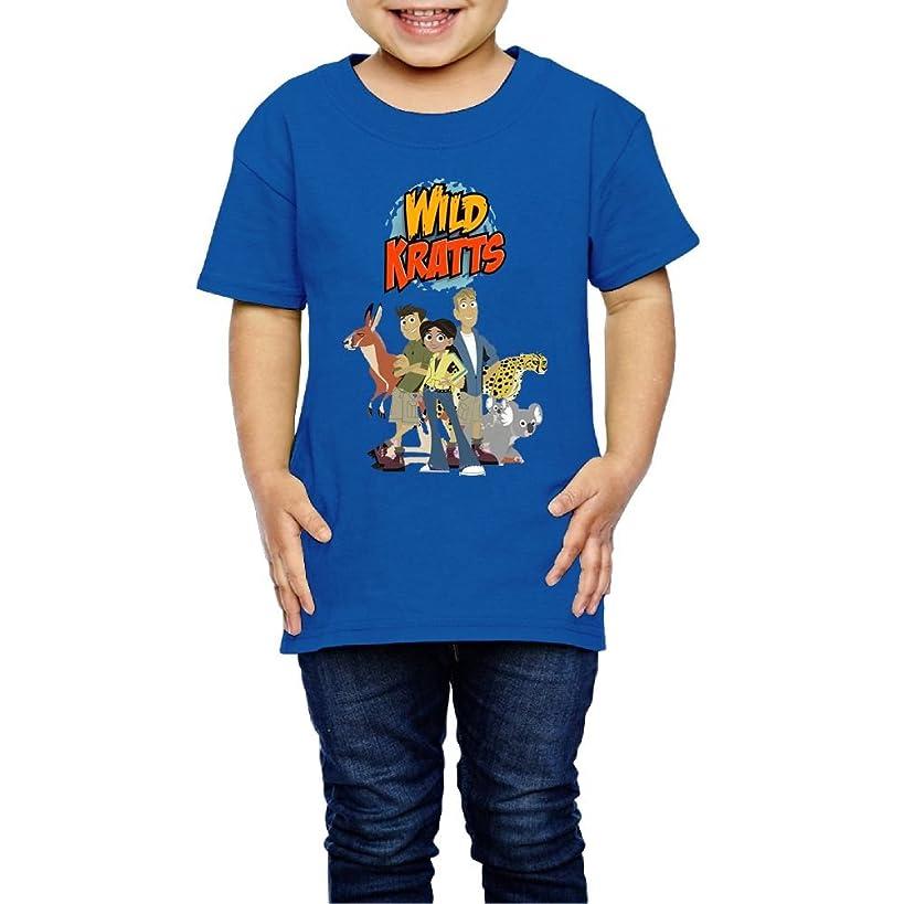 Erin Forman Kids Children Popular Celebrity Short-Sleeve T-Shirt Wild Kratts Logo RoyalBlue