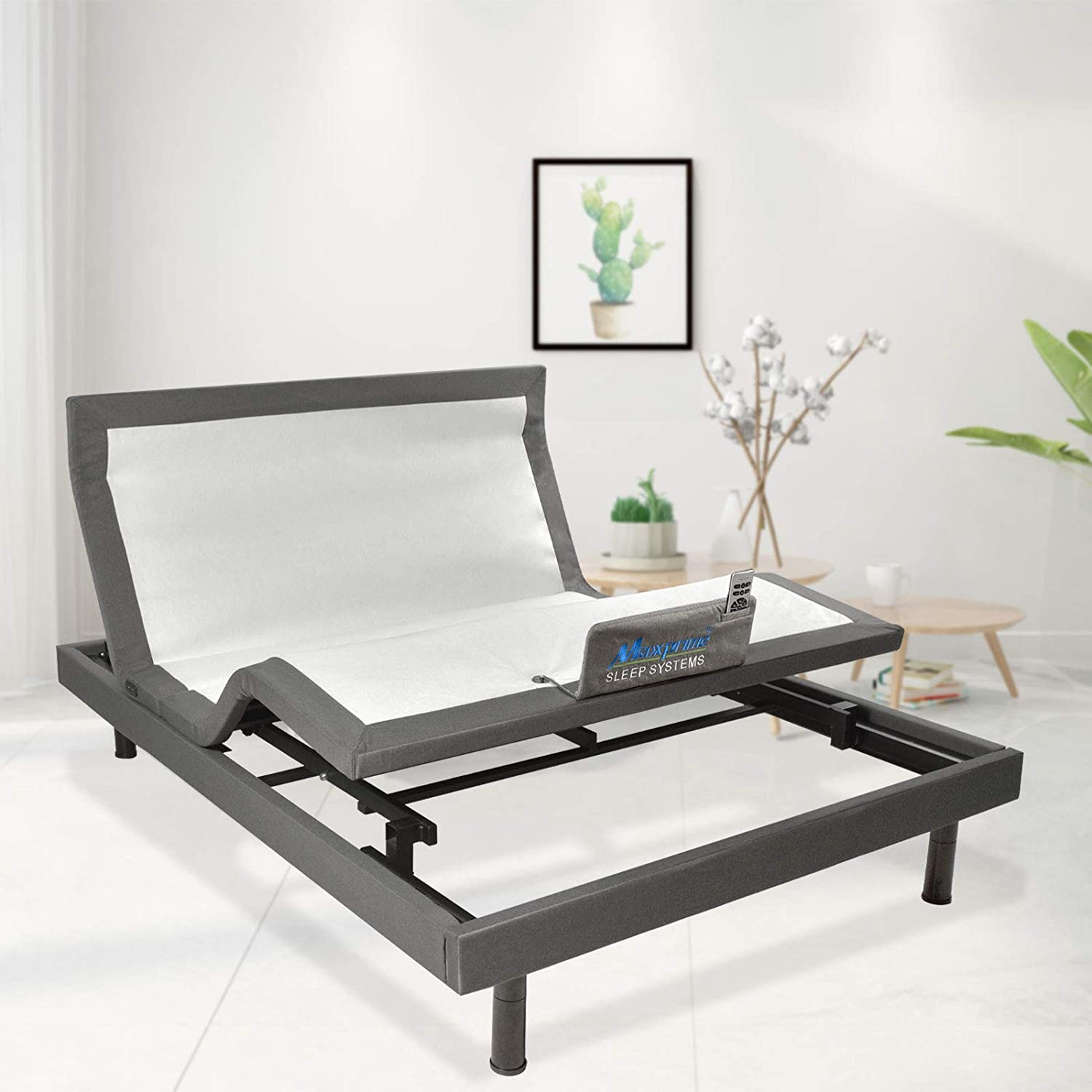 Maxxprime Wall Max 40% OFF Hugger Adjustable 70% OFF Outlet Bed Frame Motor Elec with Okin